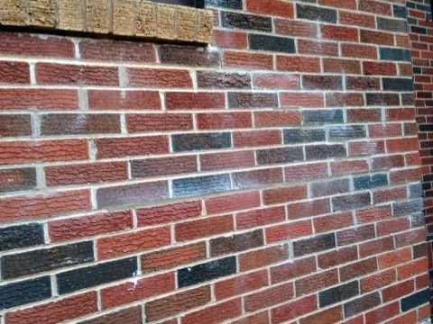 Clean brick muriatic acid