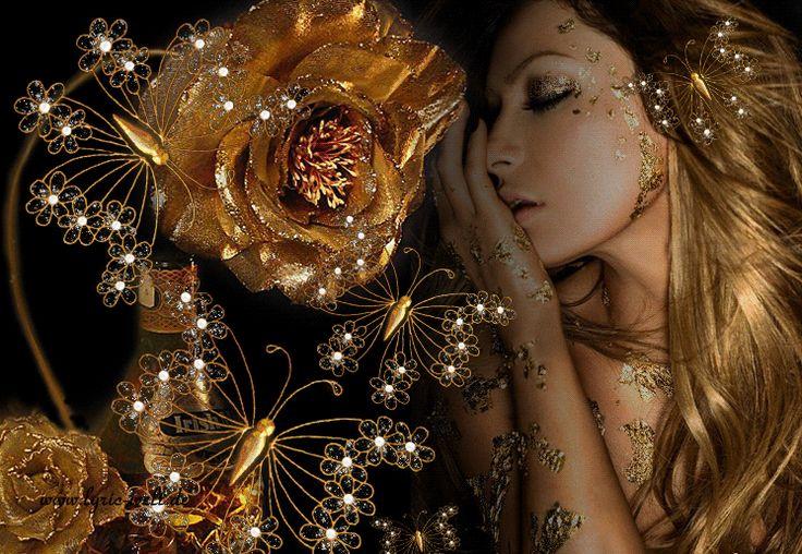 тех пор золотая мерцающая роза анимация фото страница открытки