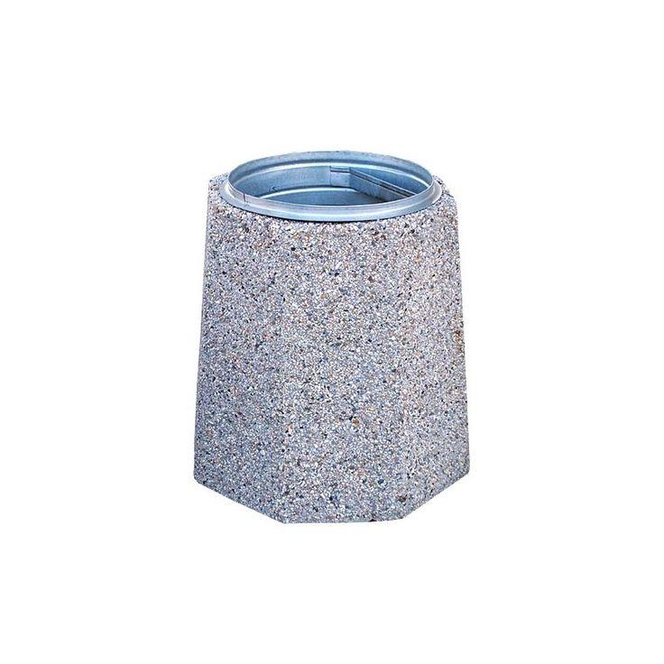 kosze betonowe, kosze na śmieci, kosze na smieci, mała architektura miejska, Kosz ośmiokątny 70 litrów stabilny