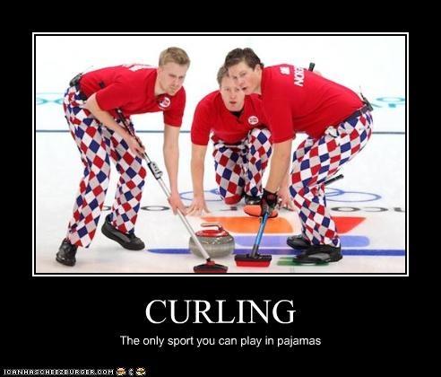 curling - crazy pants