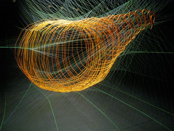Sean McGinnis. spatial sculptures made of string