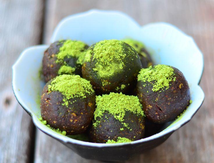 Chocolate Matcha Energy Balls Recipe