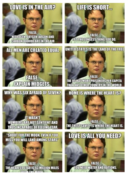 omg- the bottom left! I've been saying this for years! love you, Dwight