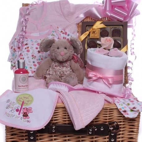 23 best baby girl hampers with mini nappy cake images on pinterest beautiful new baby hamper for a little girl jam packed with gifts including a bella rose teddy mini nappy cake and chocolates for the new parents negle Images