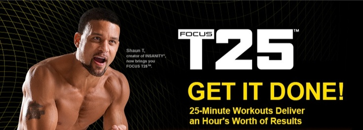 Shaun T. creator of Insanity now brings you Focus T 25...coming soon!