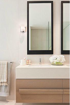 35 Spring Street display suite, bathroom interior design / Bates Smart