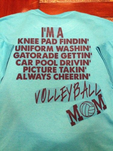 Turquoise Volleyball Mom Duties Crew Tshirt (Personalized. See Below.) | MissPhiesBoutique - Clothing on ArtFire