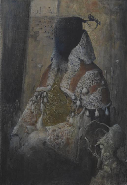 Agostino Arrivabene. Du Mal I°, Distemper on linen on cardboard, 49x35cm