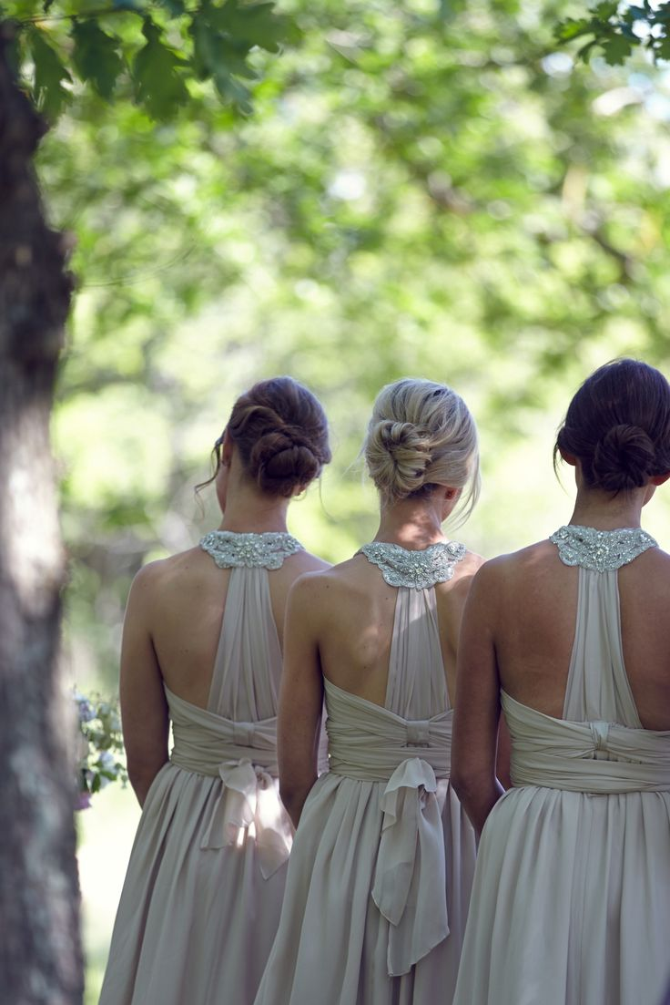 Love the backs of these. Anna Campbell. Photography: 35mm Photography - 35mmfashionphotography.4ormat.com/  Read More: http://www.stylemepretty.com/australia-weddings/victoria-au/2014/03/04/romantic-and-rustic-victoria-wedding-at-andersons-mill/