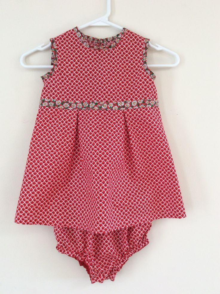 Easy toddler summer dress with briefs