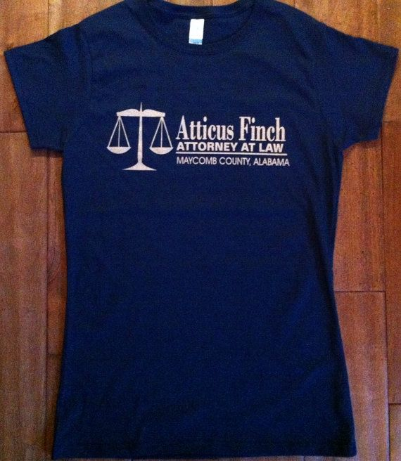 Atticus Finch Attorney at Law T-Shirt - To Kill a Mockingbird - Gift English Teacher High School Student Classic American Literature Hero on Etsy, $13.97