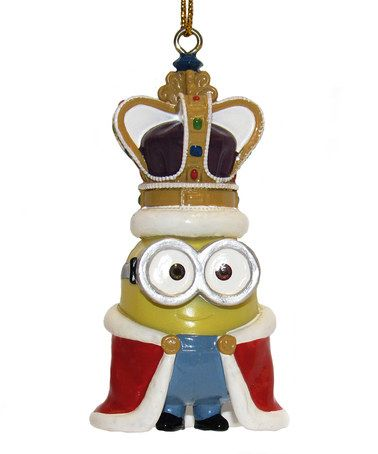 Look what I found on #zulily! Despicable Me King Bob Ornament #zulilyfinds
