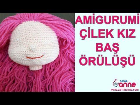 Amigurumi Çilek Kız Baş Örülüşü - YouTube