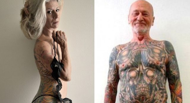 Tattooed seniors show tattoos can still be awesome when you get older.