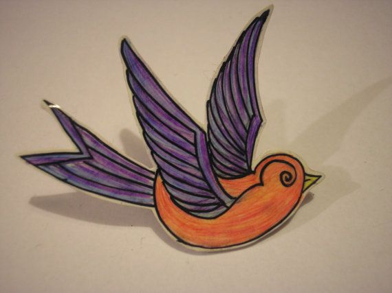 Sparrow broche/Badge - tatouage - Roller Derby