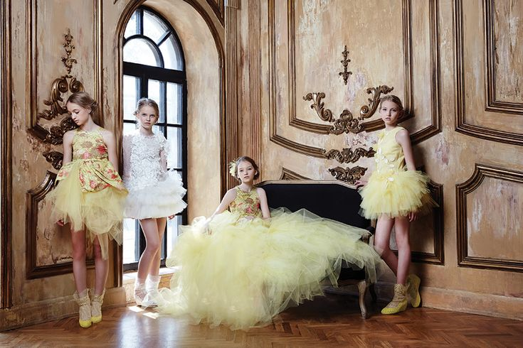 Mischka Aoki yellow dreams for spring 2015