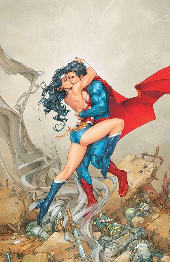Superman Kiss Catwoman | COMICS: The SUPERMAN & WONDER WOMAN Kiss Leads To Something More This ...