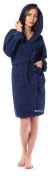 Халат Cotton Joy банный с капюшоном XL Темно-синий (APP0ACCXL29)