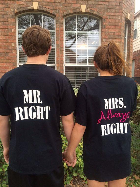Mr.  and Mrs. Couples TShirts by PolkaDotPeeps on Etsy, $29.99 #redneckwedding