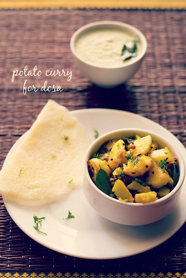 potato curry recipe for masala dosa - tried and tested recipe of potato filling for masala dosa. can also be served with rava dosa or uttapam. also makes a good side dish with pooris or rotis or as a sandwich filling.