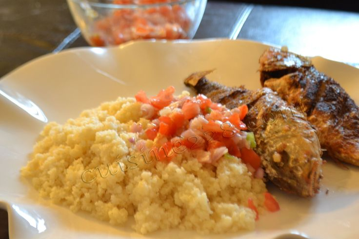 Attieke and fried fish (can't be married to an Ivorien without eating this!!)