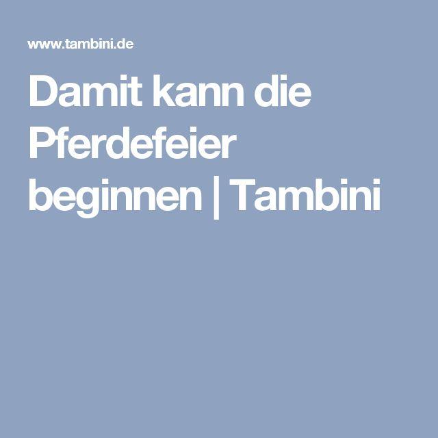 Damit kann die Pferdefeier beginnen | Tambini