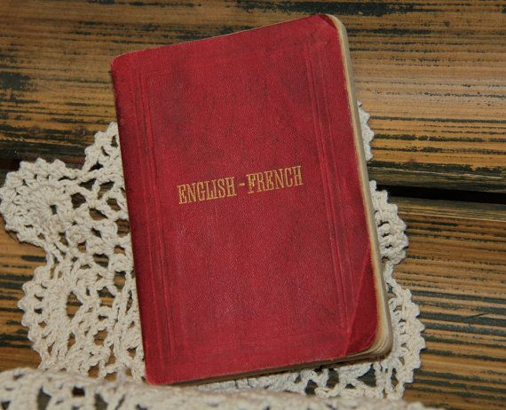 Tiny English French Dictionary by F.E. Feller - ArtcyLucyVintage on Etsy