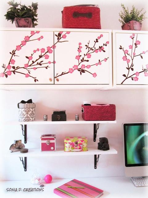 SONIA D. CREATIONS - Ma déco / Bureau à domicile : rose et blanc