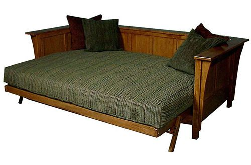 Graceful queen size futon mattress with 3 pillows