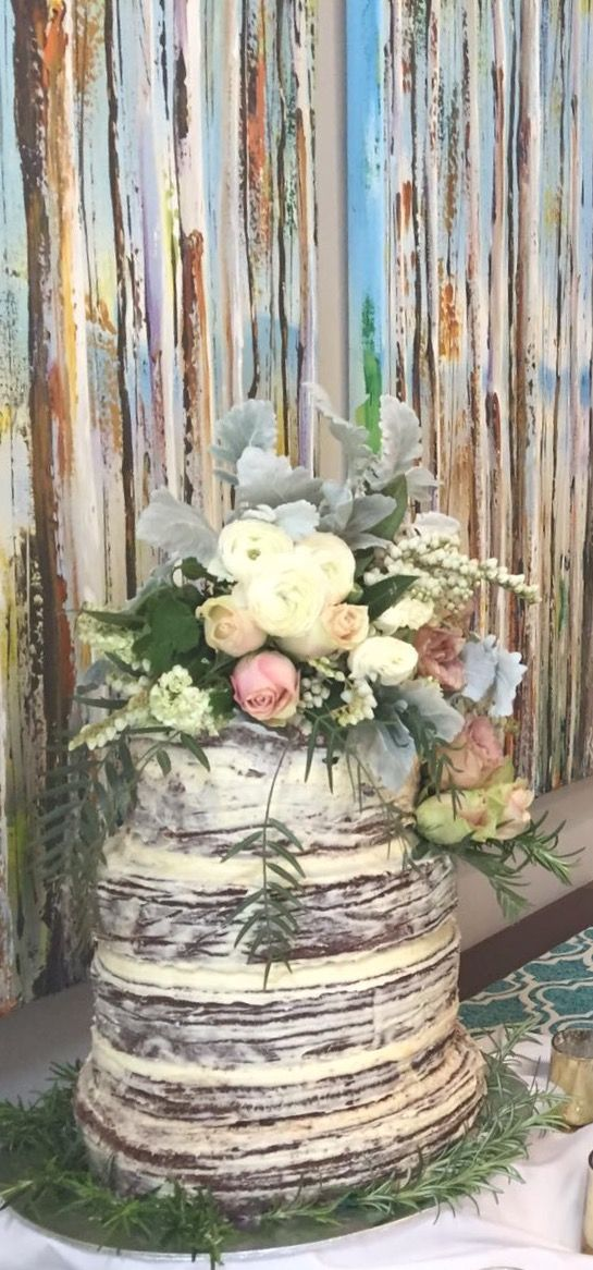 Almond chocolate mud wedding cake for a friend's wedding