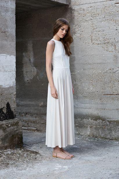 FOLDED LONG DRESS D037