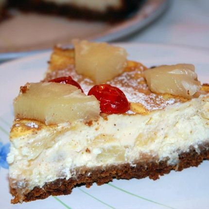 cheesecake ananas-cannelle
