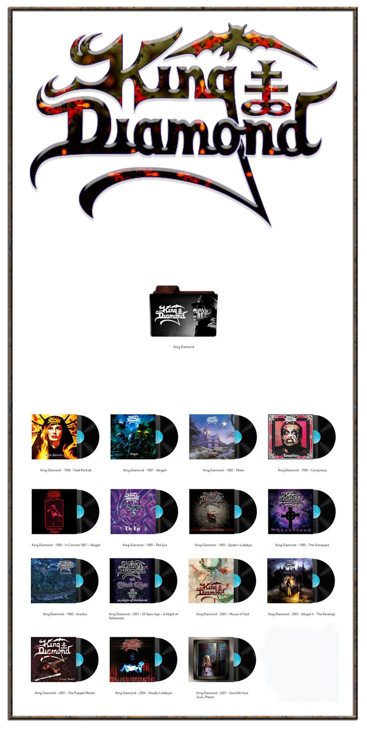 Album Art Icons: King Diamond Discography Folders (ICO & PNG)