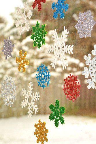 Создаем сверкающие снежинки своими руками вместе с детьми. #своими #руками #рукоделие #лавка #творческих #идей #идеи  #DIY #lavkai #Украшение #интерьер #дизайн #дети