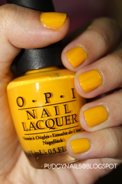Currently wearing: OPI Need Sunglasses? Sunshine in a bottle!