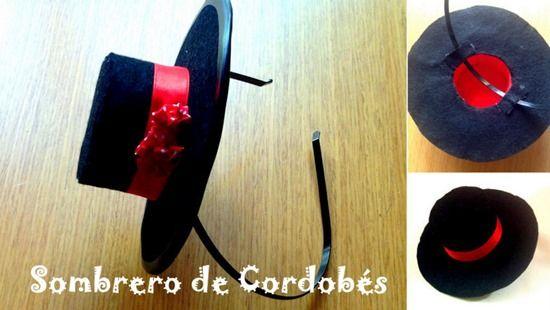 Sombrero de cordobés casero no puede faltar en la feria de abril: http://www.manualidadesinfantiles.org/sombrero-de-cordobes