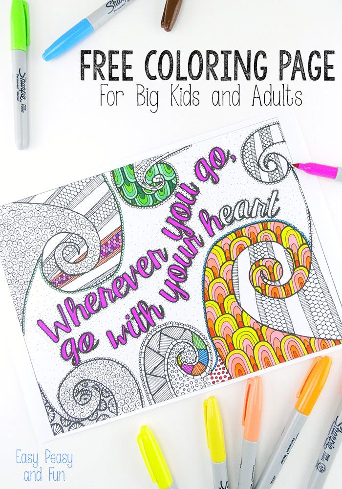free coloring page for adults - Free Easy Coloring Pages