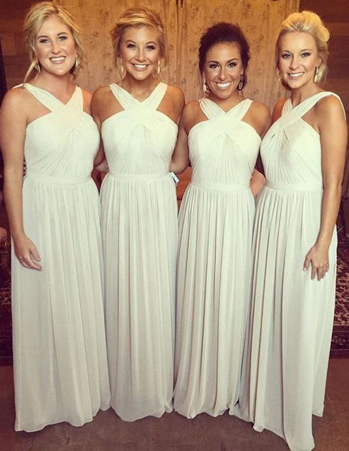 white bridesmaid dresses, bridesmaid dresses white, long bridesmaid dresses…