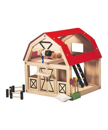 Take a look at this Barn & Accessories Set by PlanToys on #zulily today!