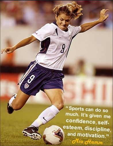 """""""Sports can do so much. It's given me confidence, self ...  