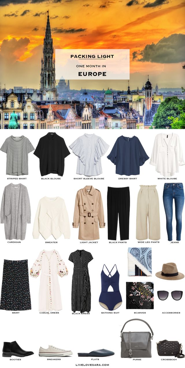 Packing List: one month in Europe in August. What to Pack - livelovesara