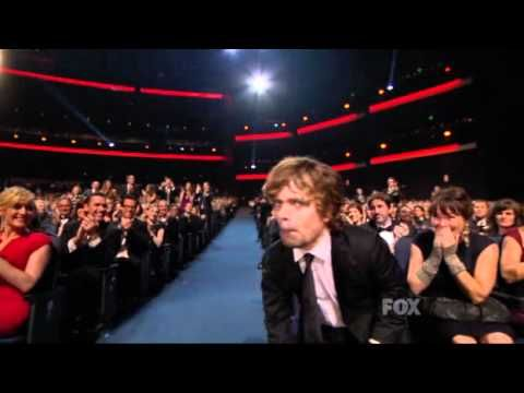 Peter Dinklage wins an Emmy for Game of Thrones at the 2011 Primetime Em...   I thought he was English.  Could have fooled me.