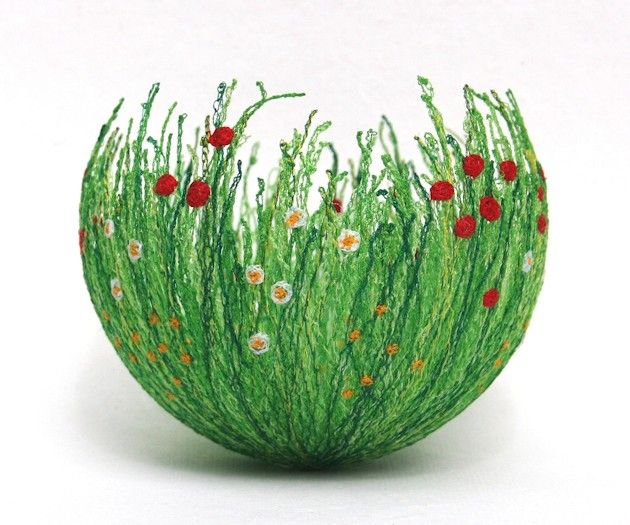 Felted vessel by Anne Honeyman. @designerwallace @Laura Blackwell have you seen this?!