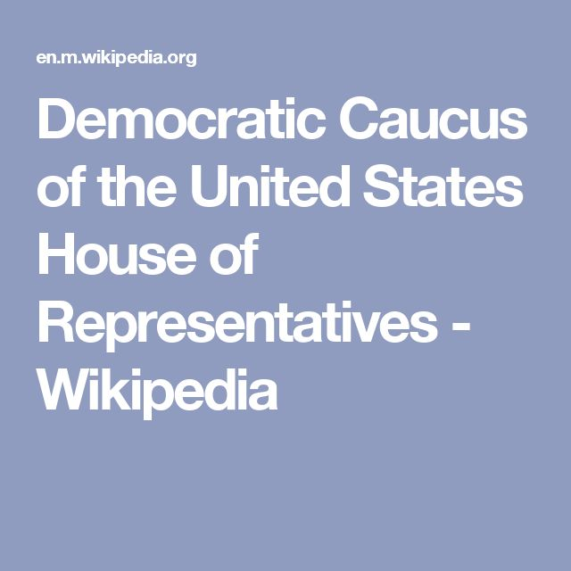 Democratic Caucus of the United States House of Representatives - Wikipedia