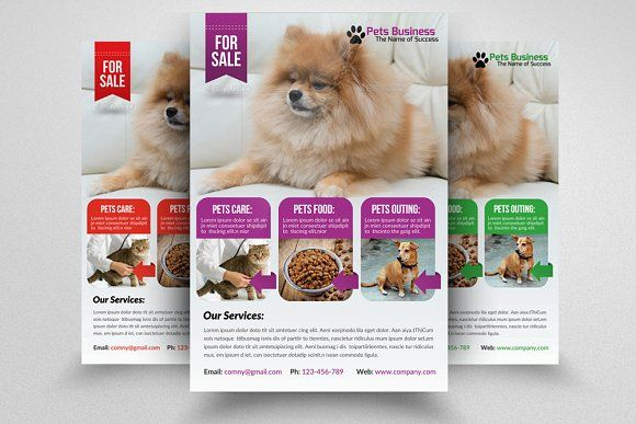 Pet Shop Business Flyer Template by Business Flyers on @creativemarket