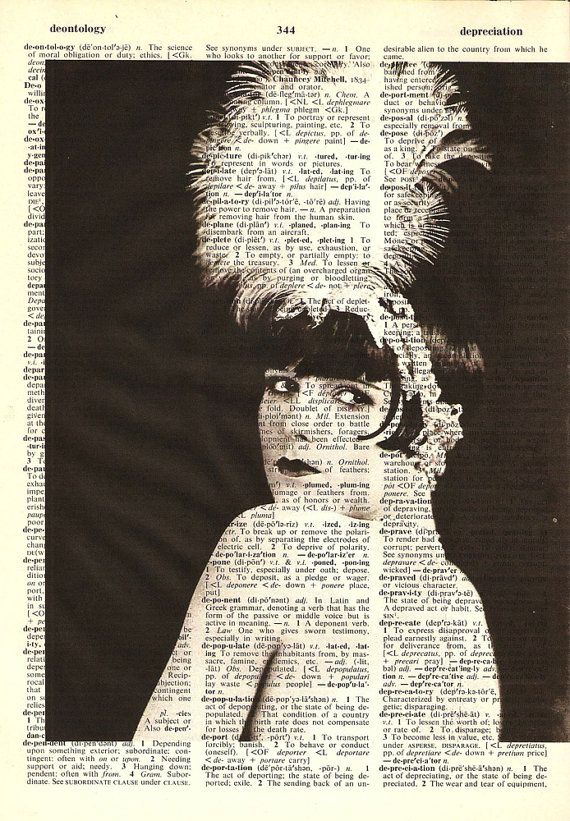 Louise Brooks Flapper - Print on Vintage repurposed paper