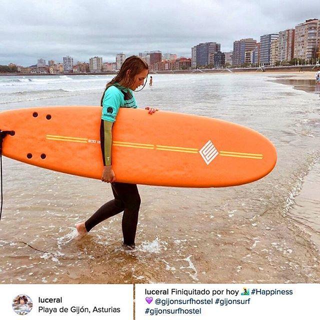 ¡Gracias @Luceral por amar Gijón tanto como nosotros! ❤️ #happiness @gijonsurfhostel #gijonsurf #gijonsurfhostel  #Surf #Surfing #Surfers #WaterSports #Playa #Beach #Mar #Sea #Cantábrico #Verano #Summer #Gijón #Xixón #Asturias #Asturies #AsturiasConSal #NorthernSpainWithZest #Turismo #Tourism