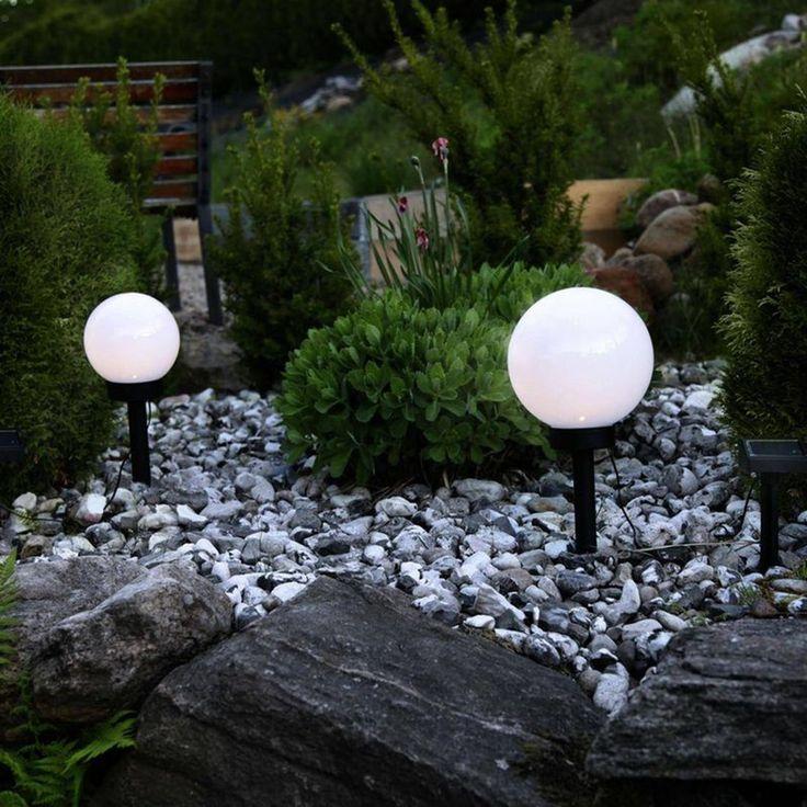Globe Light – 2 Boules Lumineuses D'extérieur Solaires Led À Piquer Ou Poser Ø15cm – Taille : Taille Unique