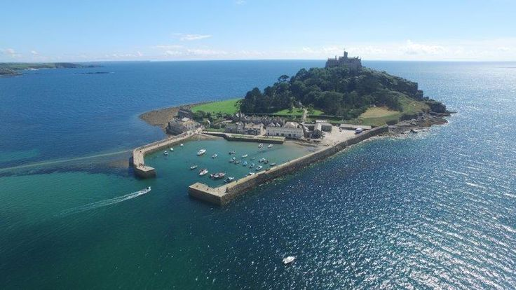 St Michael's Mount by air by Richard Marlow. #aerial #cornwall