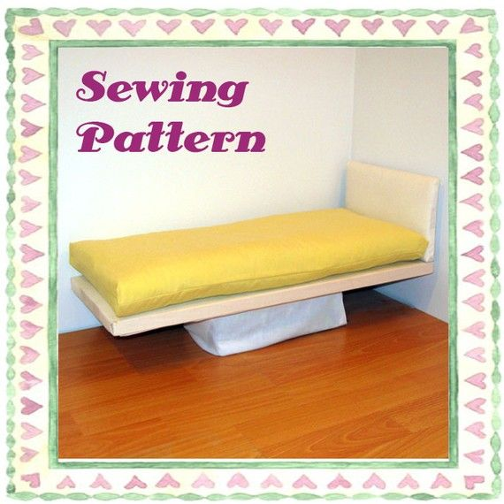 Doll Bed Mattress Pdf Pattern And Tutorial Fits Any By Wendysaysew